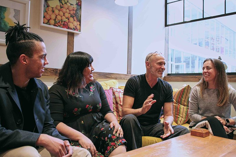 Chip Conley and Airbnb colleagues