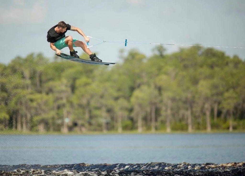 Jeff McKee pro wakeboarder takes to the air