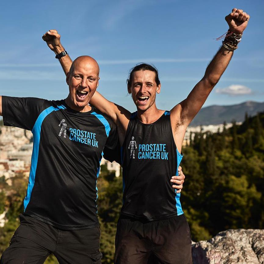 Nick Butter and Kevin running for Prostate Cancer