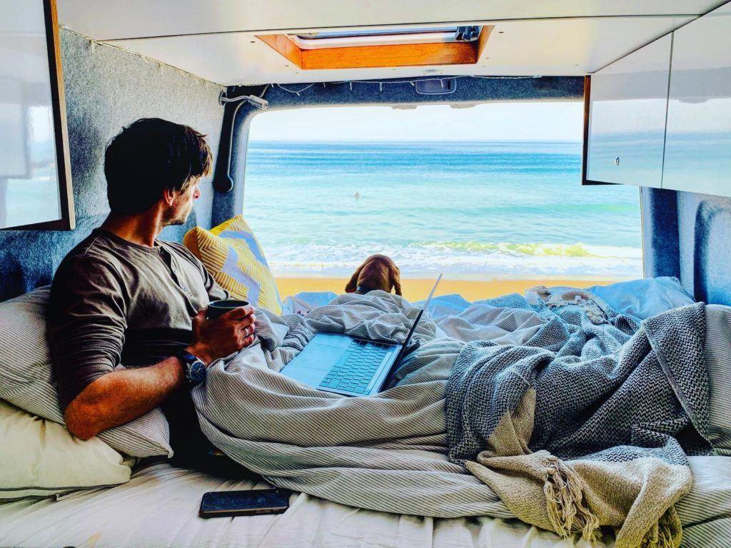 Nick Butter living in a van