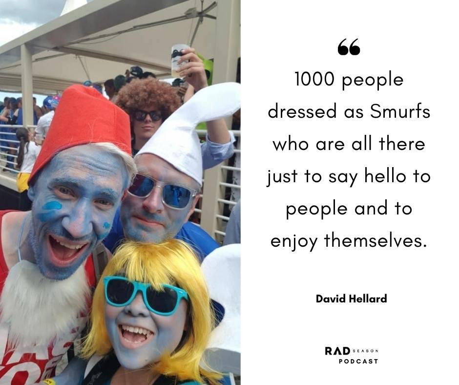 David Hellard smurf run