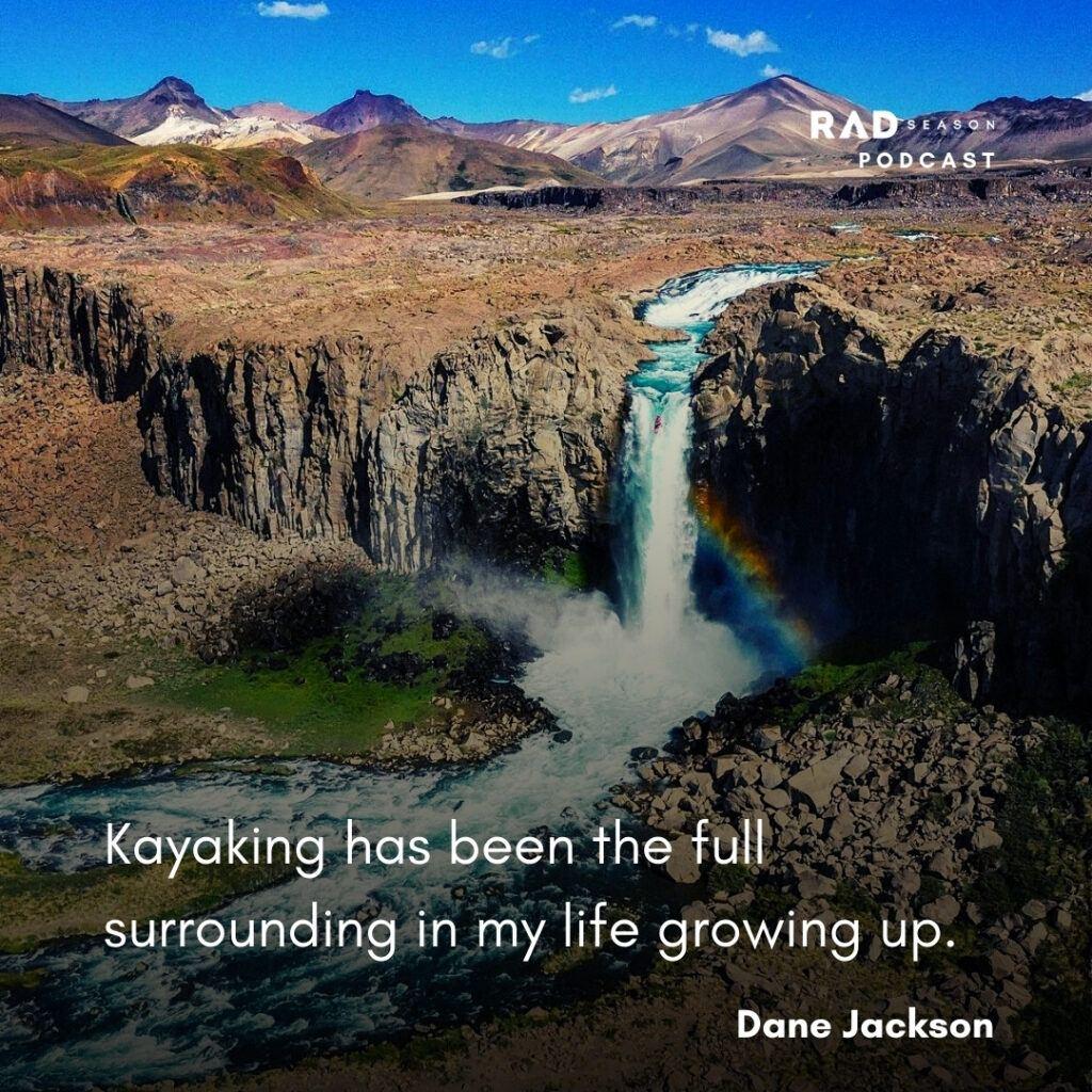 Dane Jackson kayaking and waterfalls