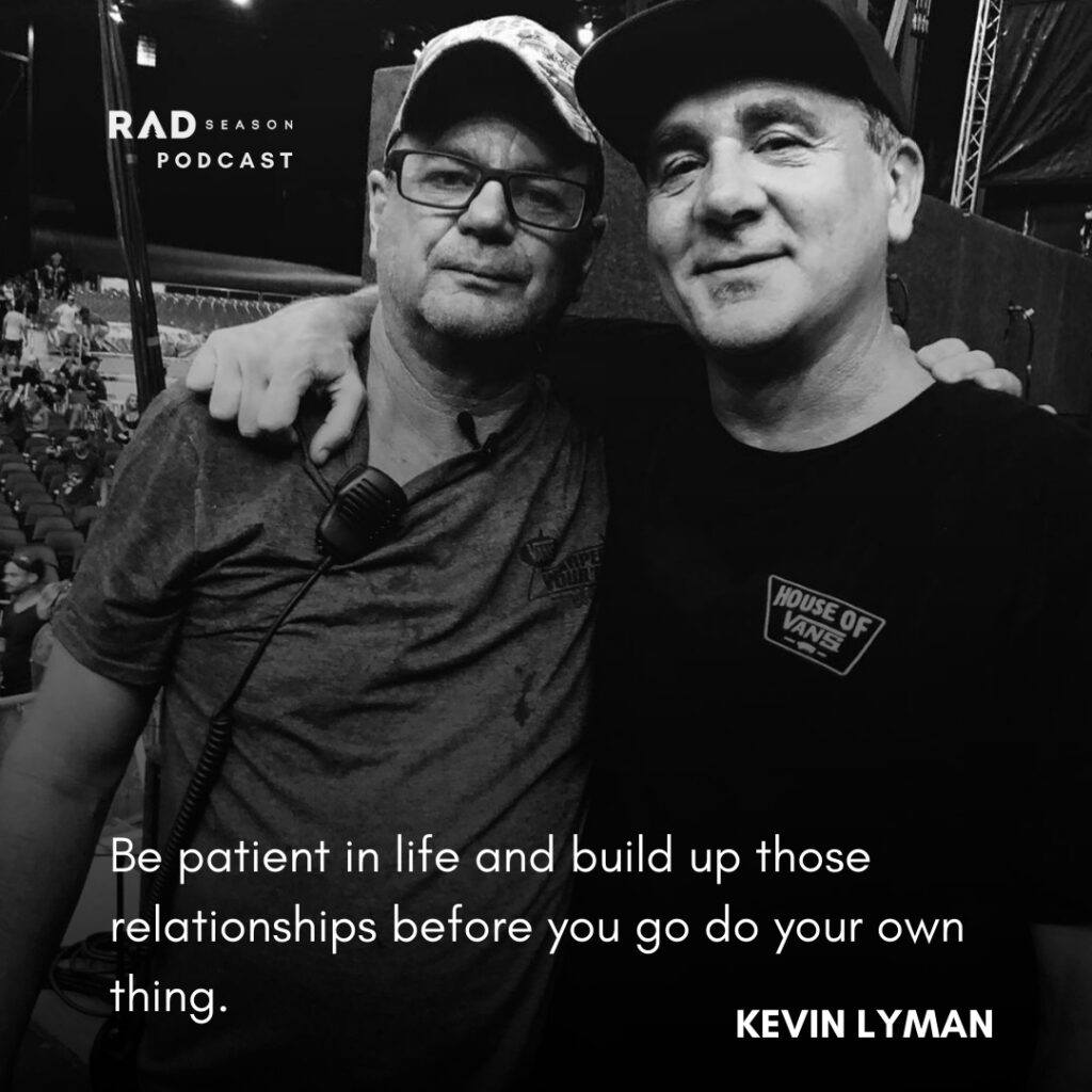 Kevin Lyman with the lead singer of punk band Pennywise
