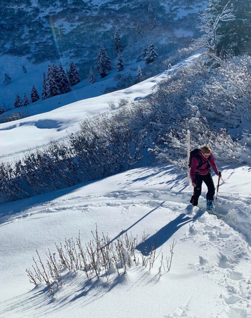 backcountry touring in Switzerland