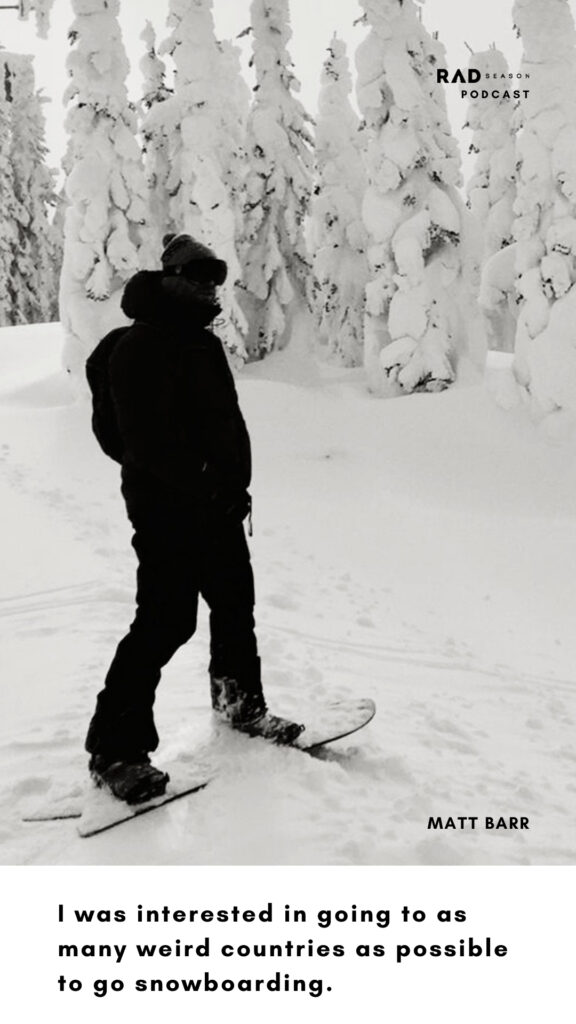 Matt Barr former editor of Whitelines Snowboarding magazine