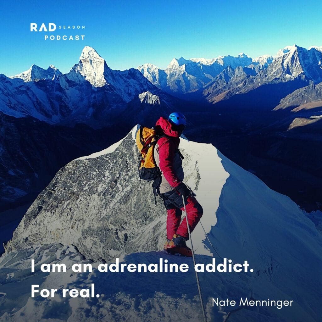 Nate Menninger climbing in Chile