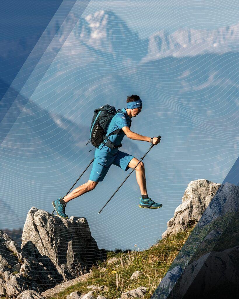 x-alps runner in the alps