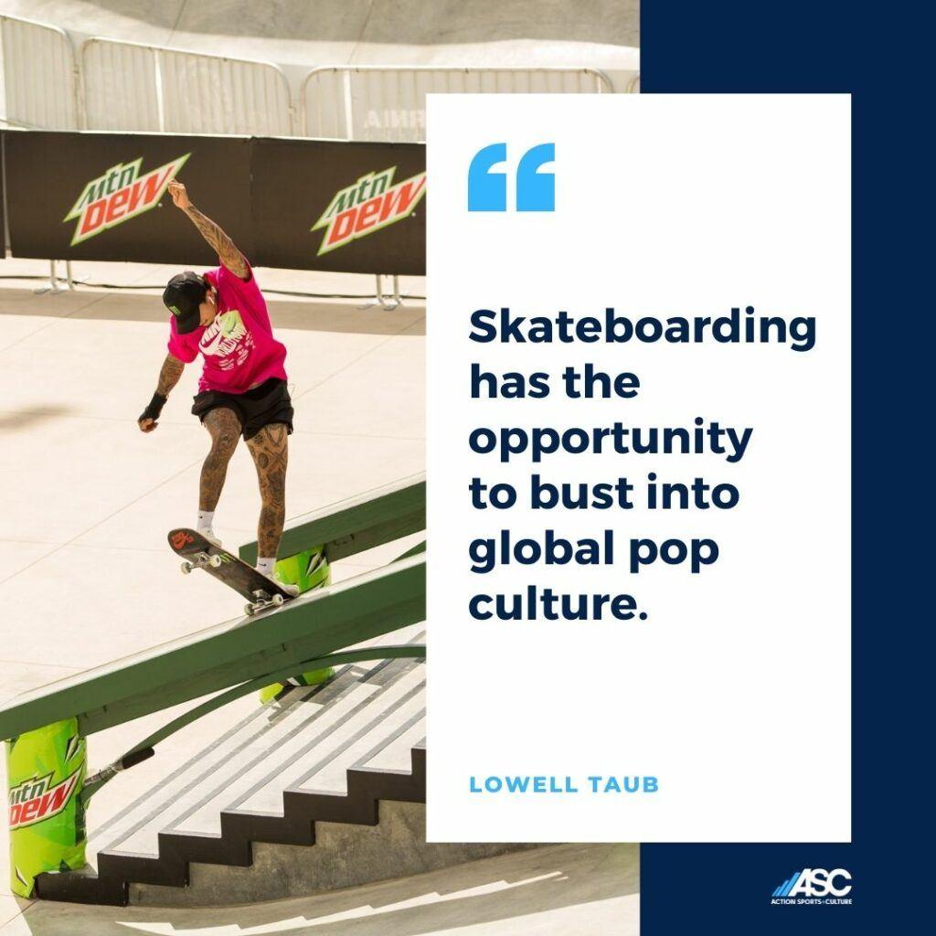 ASC Lowell Taub skateboarding quote