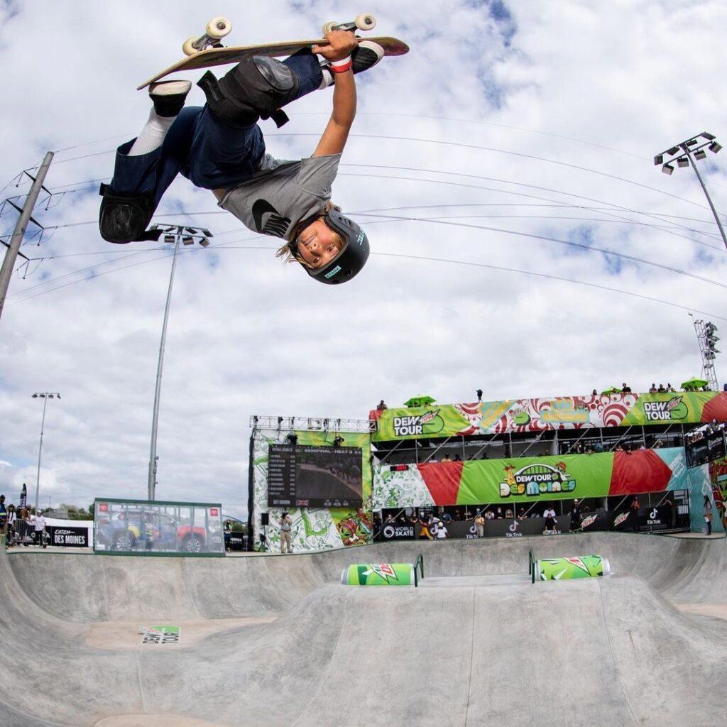 Sky Brown skateboarding in the Olympics