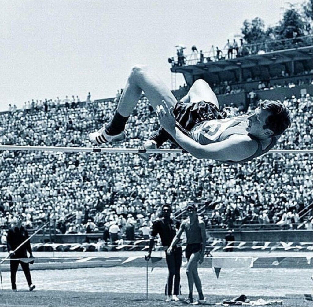 Dick Fosbury inventor the the Fosbury Flop High Jump Technique
