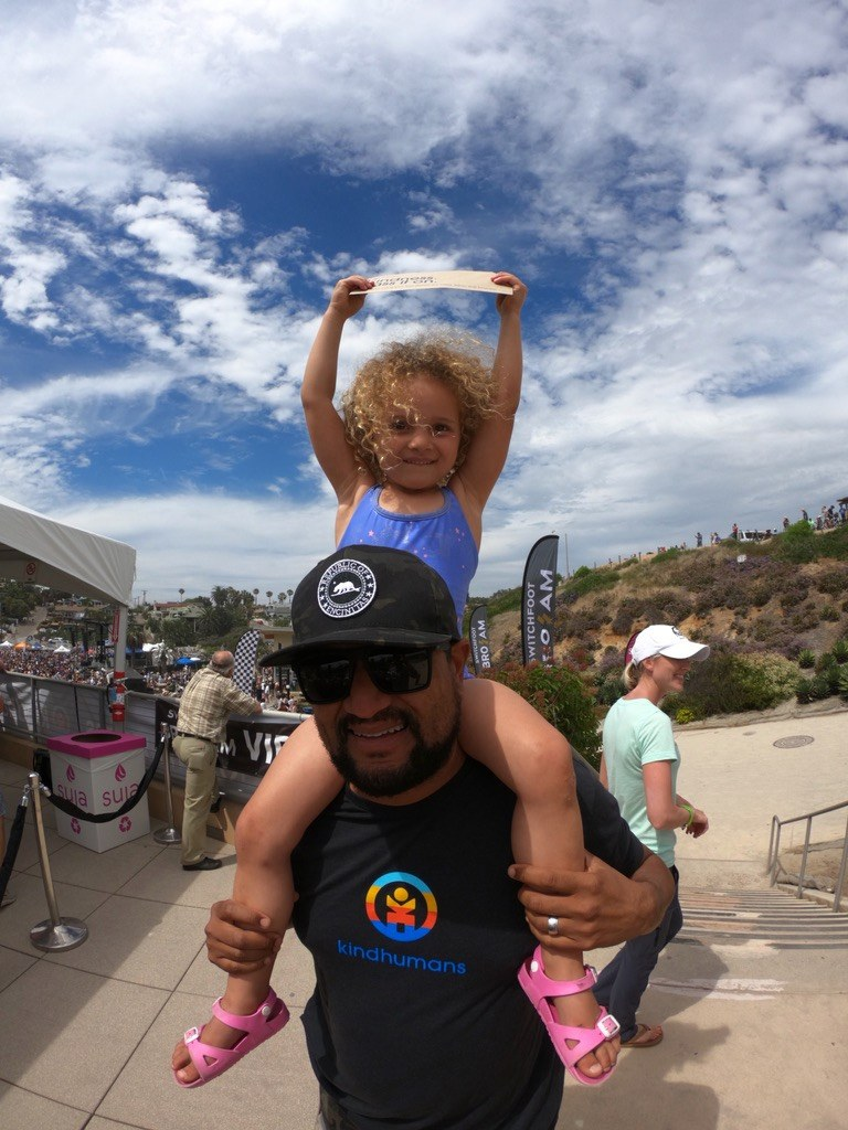 Justin Wilkenfeld and his daughter