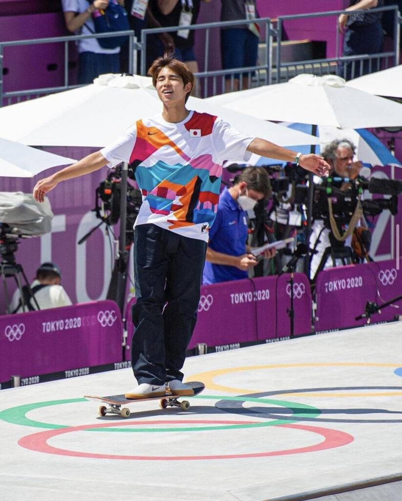 Yuto wins gold at Skateboarding Street