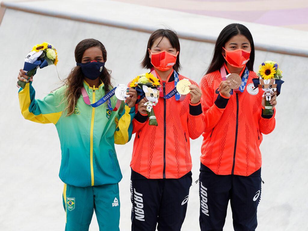 Women's Skateboarding Street Medalists