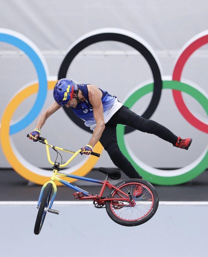 Daniel Dhers silver medalist at BMX Park Tokyo Olympics