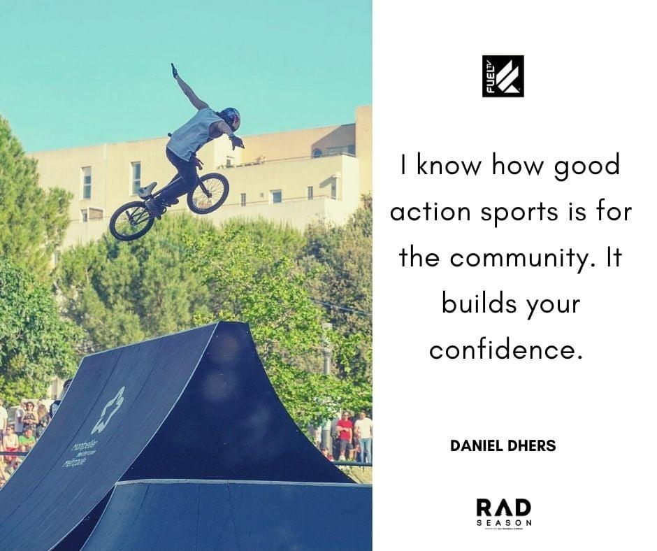 BMX athlete Daniel Dhers spine gap no hander