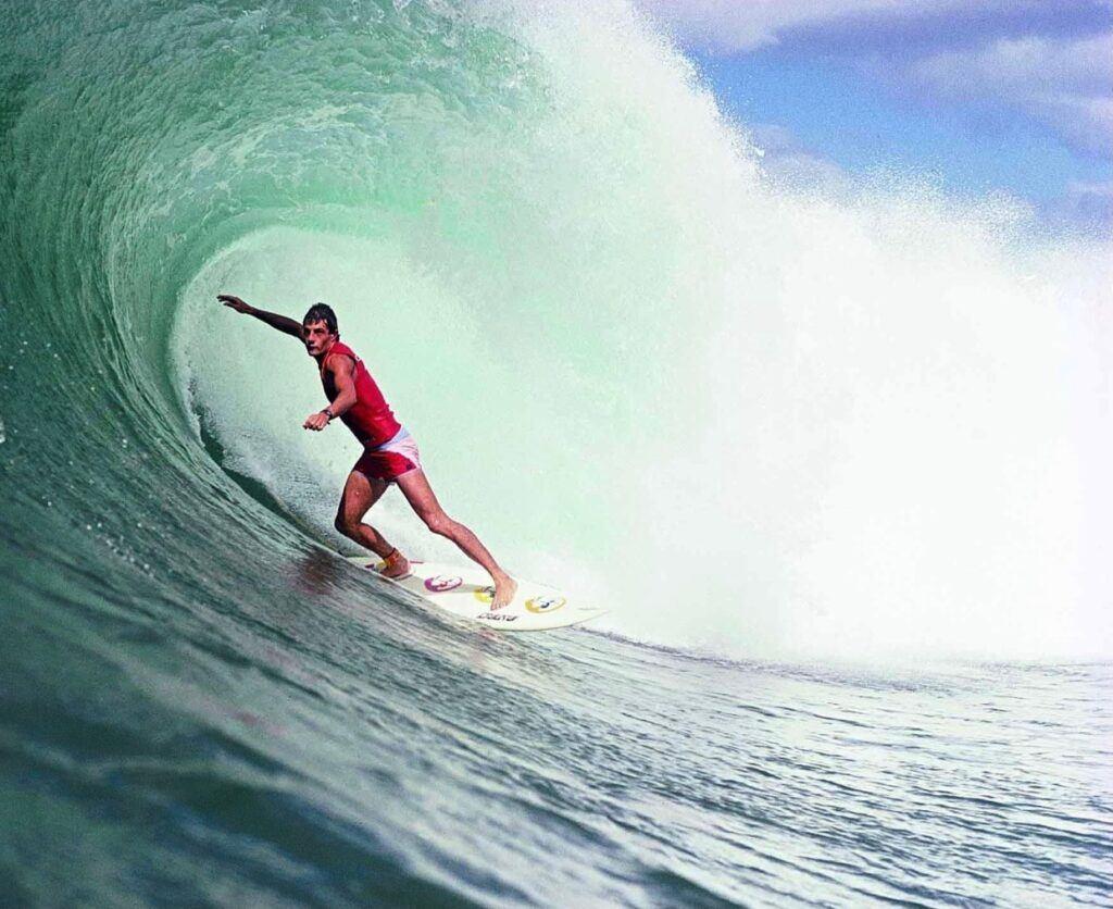 Shaun Tomson surfing Pipeline