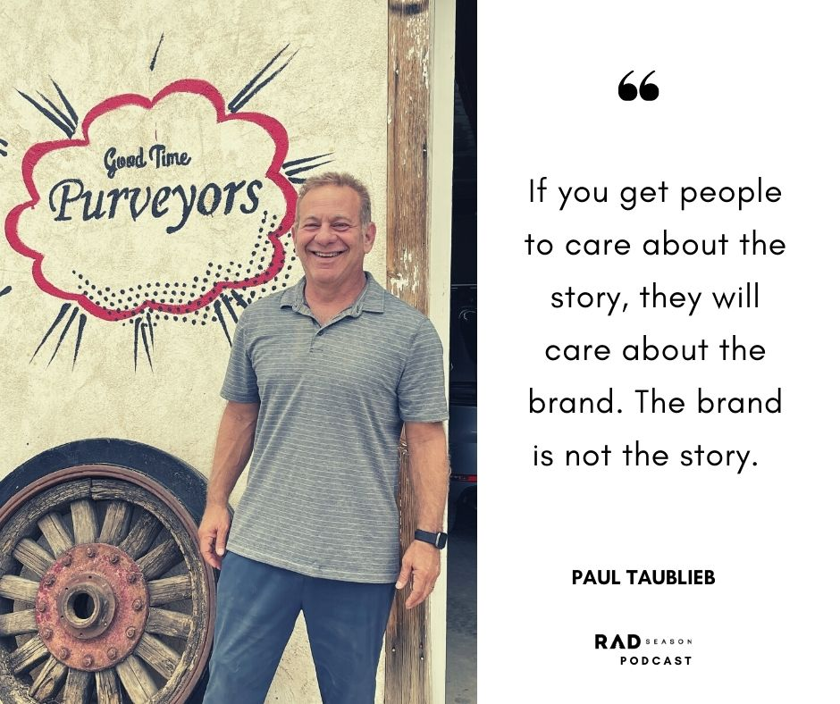 Paul Taublieb storytelling and brand