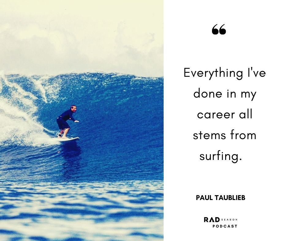 Paul Taublieb surfing in Indo