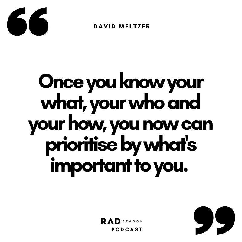 David Meltzer know what's important to you